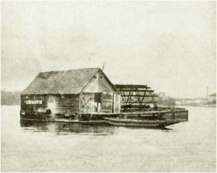1913. Az utolsó budapesti hajómalom az újpesti híd felett
