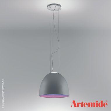 Nur Mini LED Suspension | Artemide $1,120.00 - Nur Mini is a cable suspended luminaires for direct lighting with subtle indirect lighting. #artemide #LED #suspensionlight