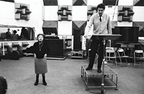 Daniel Angeli. Edith Piaf with Mikis Theodorakis  [::SemAp...