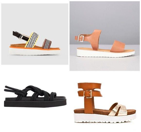 Sandales Plates, Sandales Cuir, Plateforme, Chaussure, Tendance, Vestimentaire, Corde, Tenue, Printemps
