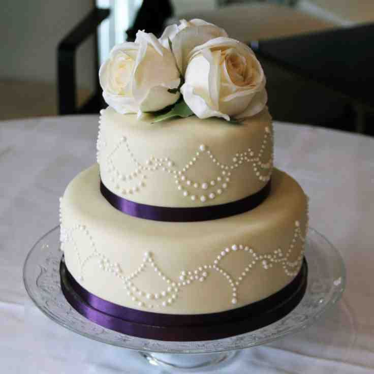 Two Tier Wedding Cake Ideas
