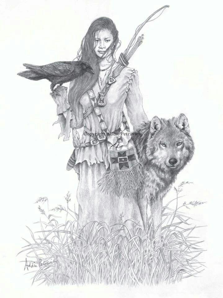Любимой днем, девушка и волк картинки нарисованные