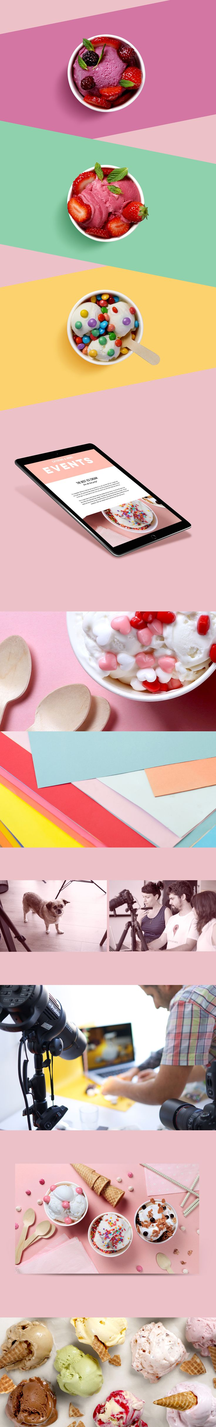 We strive to create original high quality content for our users. That means that we create a lot of photoshoots for our templates. This photoshoot was created for an ice cream shop template.