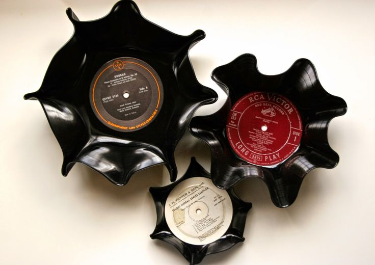 DIY Vinyl Record Bowls - The Surznick Common Room
