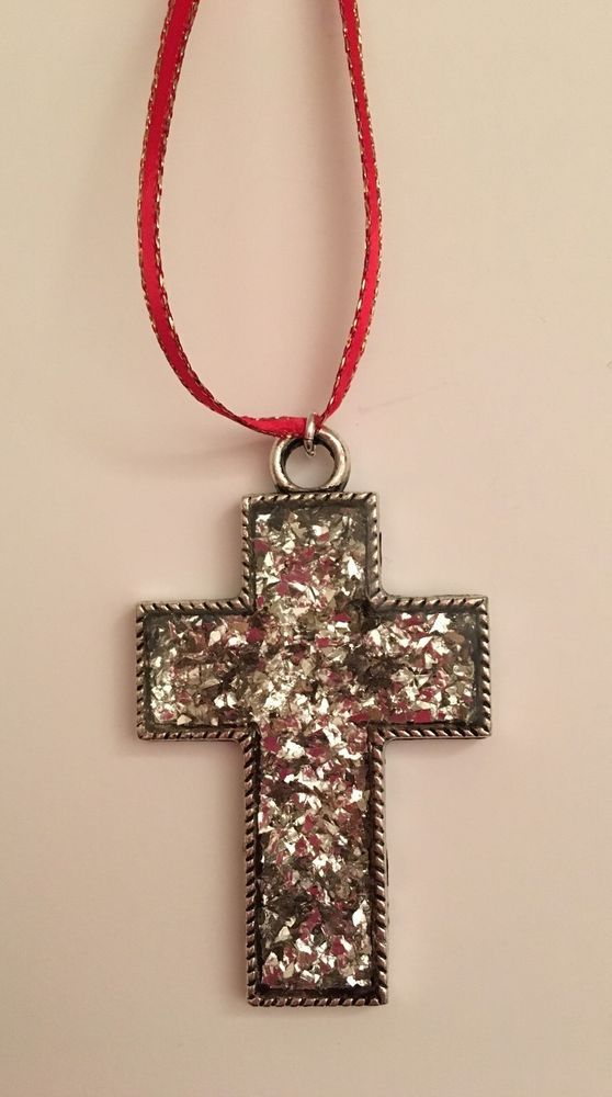 Handmade Resin Cross Ornament Charm Decorative Rustic Glitter | eBay