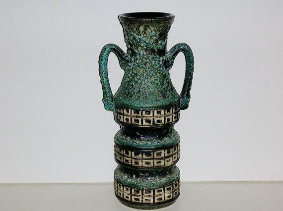 Mid Century Jopeko keramik thick Fat Lava by vintage2remember
