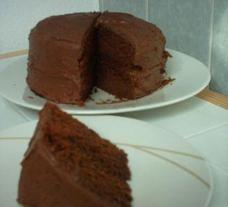 Naughty Chocolate Fudge Cake