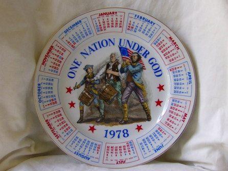 1978 Spencer Gifts Calendar Plate Vintage by MendozamVintage, $8.99