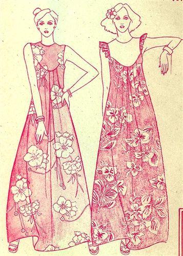 vintage muumuu pattern - Google Search