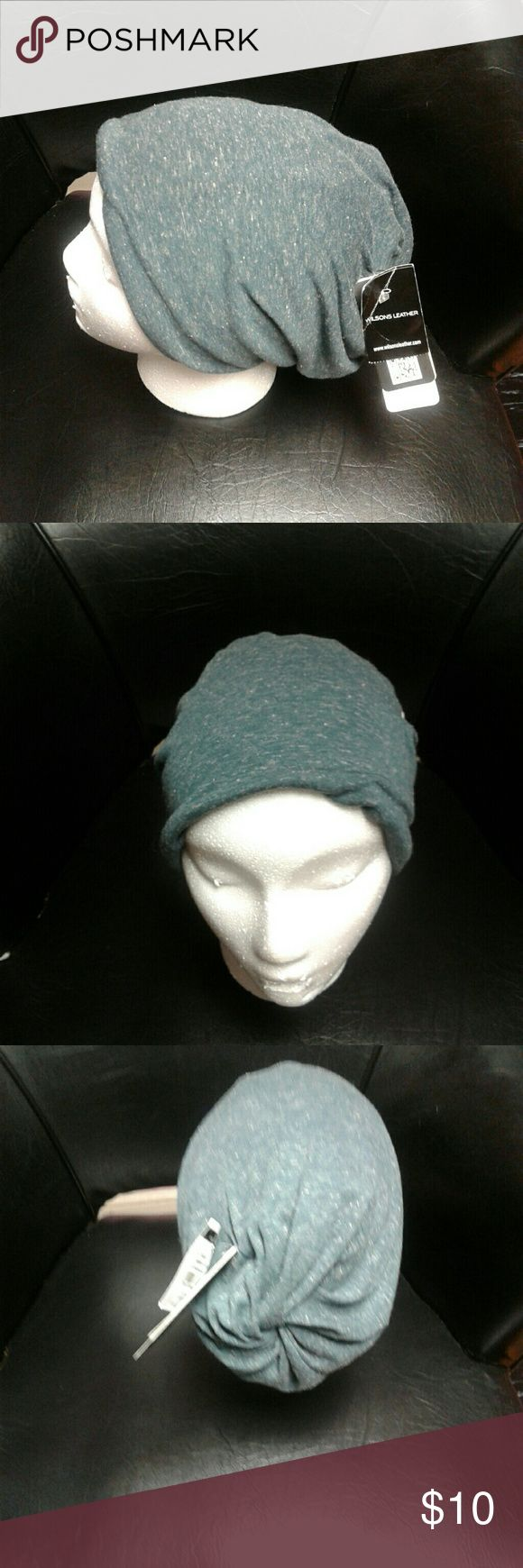 Ladies Beanie/Headband/Turban Beanie/Headwrap...For bad hair days or everyday. Hunter green color with white sprecks. Versatile for different lengths hair. Wilson's Leather Accessories Scarves & Wraps