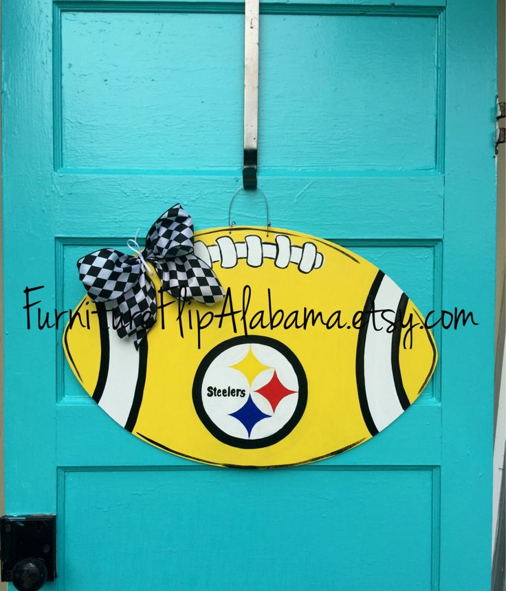 Pittsburgh Steelers football door hanger,Pittsburgh Steelers door…