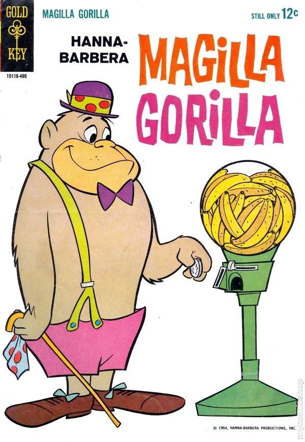 """""""We've got a gorilla for sale, Magilla Gorilla for sale.  Won't you buy him, take him home and try him...gorilla for sale.""""  I can still hear that theme song in my head!"""