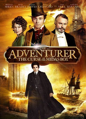 Adventurer: The Curse of the Midas Box-  Seventeen-year-old Mariah Mundi's life is turned upside down when his parents vanish and his younger brother is kidnapped. Following a trail of clues to the darkly majestic Prince Regent Hotel, Mariah discovers a hidden realm of child-stealing monsters, deadly secrets and a long-lost artifact that grants limitless wealth, but also devastating supernatural power. With the fate of his world, and his family, at stake, Mariah will risk everything to.....