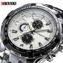 2016 Marca de Luxo completa de aço inoxidável Assista Homens de Negócios Casual Relógios de quartzo relógio de Pulso Militar Relogio à prova d' água Nova VENDA(China (Mainland))