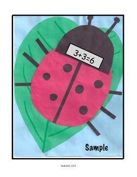 ADDING DOUBLES- A LADYBUG MATH CRAFTIVITY - TeachersPayTeachers.com