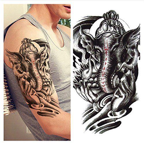 Lzc tatouage temporaire adulte pour l paule parti vacances masquerade mascarade homme femme - Signification tatouage elephant ...