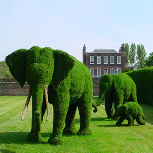 Considering how much my sister loves elephants I think she should consider having a few of these in her yard!
