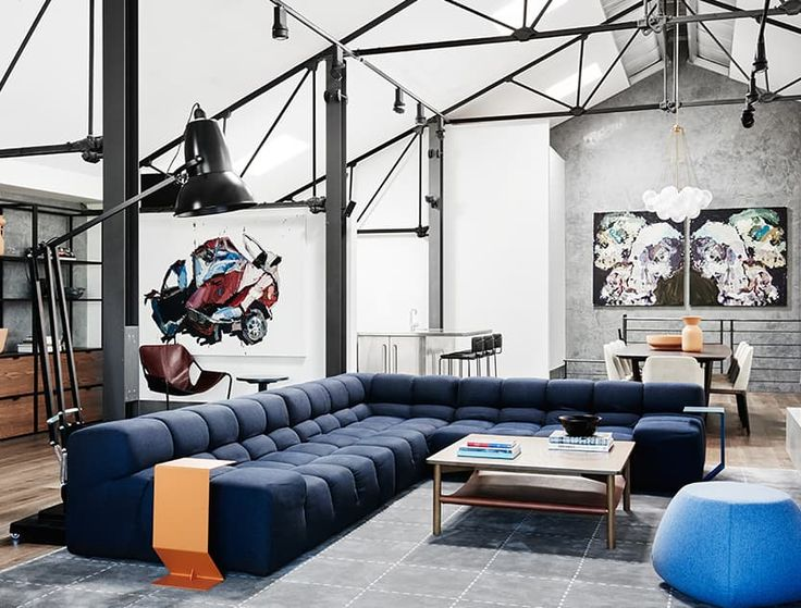 The Richmond Residence by We Are Huntly featuring B&B Italia Tufty Time sofa and Fat-Fat ottoman. Photo by Brooke Holm