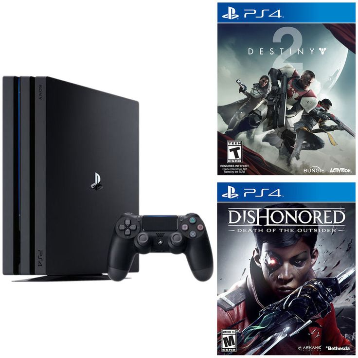 PlayStation 4 Pro 1TB console + Destiny 2 + Dishonored Death of the outsider #Sony