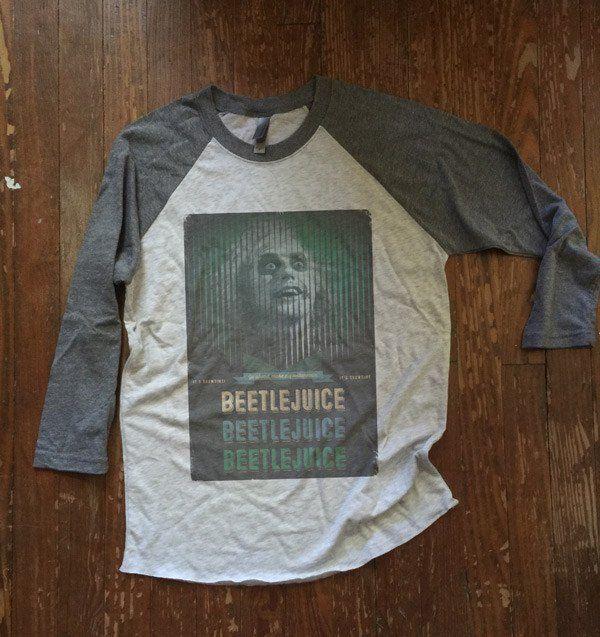 Beetlejuice Halloween Shirt - Baseball style tee - unisex mens womens
