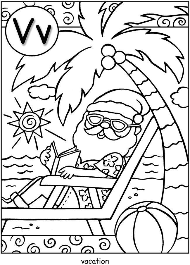 abc christmas coloring pages - photo#41