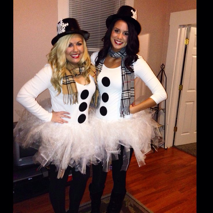 Homemade Snowman Costume! Perfect for a Halloween or Holiday Party!