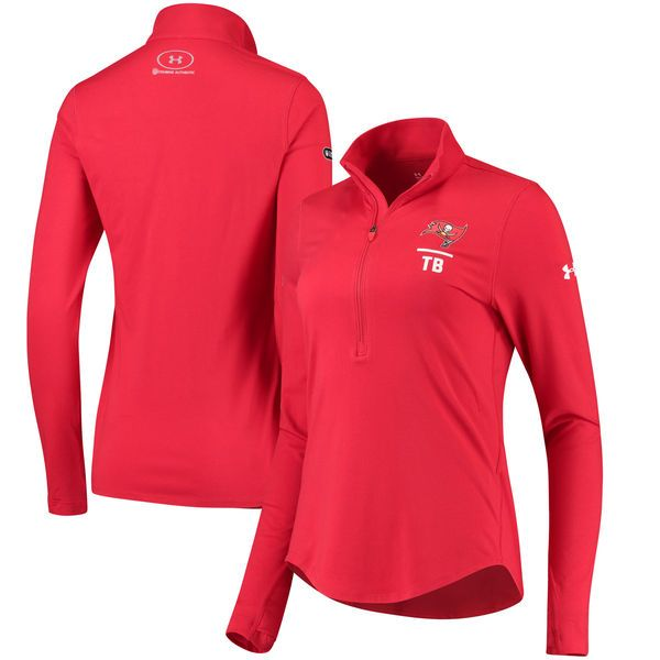 Tampa Bay Buccaneers Under Armour Women's Combine Authentic Favorites Half-Zip Pullover Performance Jacket - Red - $59.99