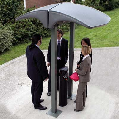 Create a smoking area outside your workplace with the Eclipse™ Back–to–Back Smokers Canopy, to provide weather protection for smokers. #Canopy #SmokingShelter #GlasdonUK #EcigaretteShelter