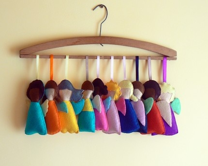 Handmade Felt Angels: Perfect for the holidays! $26.