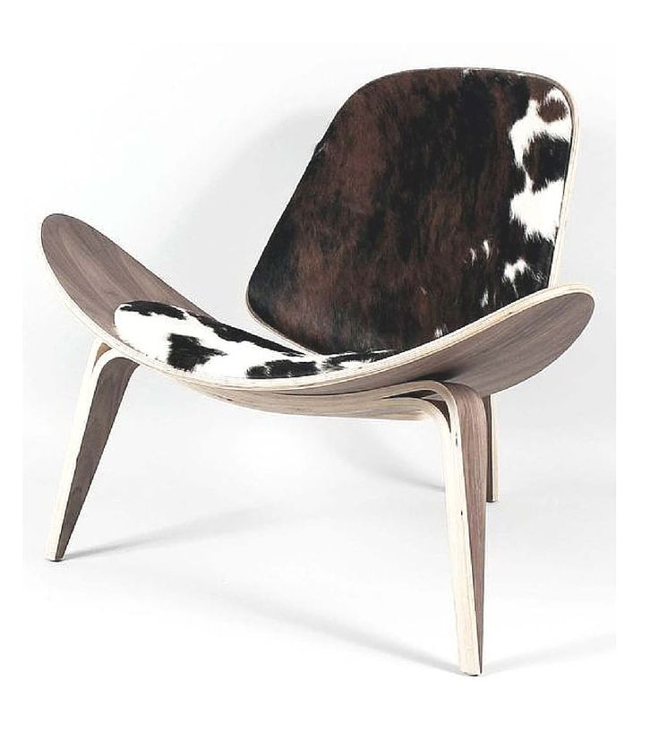 Shell Lounge Chair Walnut and Hide Wegner CH07 style - Onske  - 1