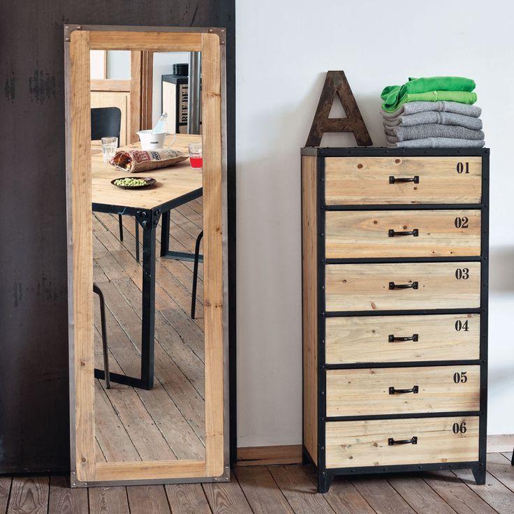17 meilleures id es propos de miroir maison du monde sur pinterest decoration cuivre deco. Black Bedroom Furniture Sets. Home Design Ideas
