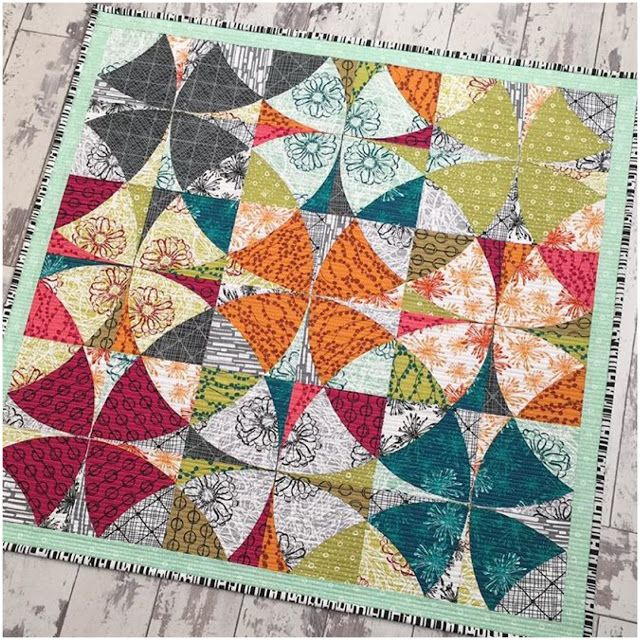 Chic Country (QCR quilt) made with Beyond the Reef's new fabric line... stunningly pretty. yes? :)