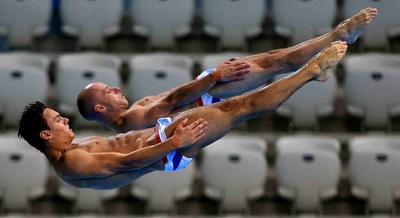 Great Britain Tom Daley and Peter Waterfield Diving  London 2012 Games