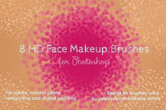 HD Face Makeup Photoshop Brushes by kjarriel on @creativemarket