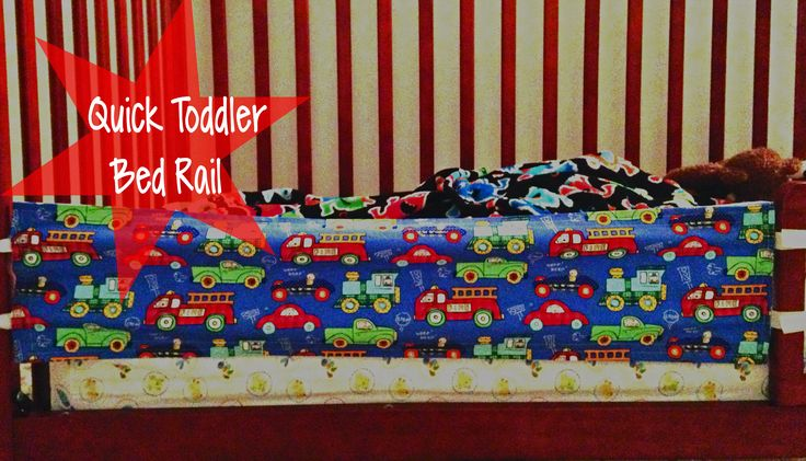 DIY Quick Toddler Bed Rail - Like it, Love it, Make it