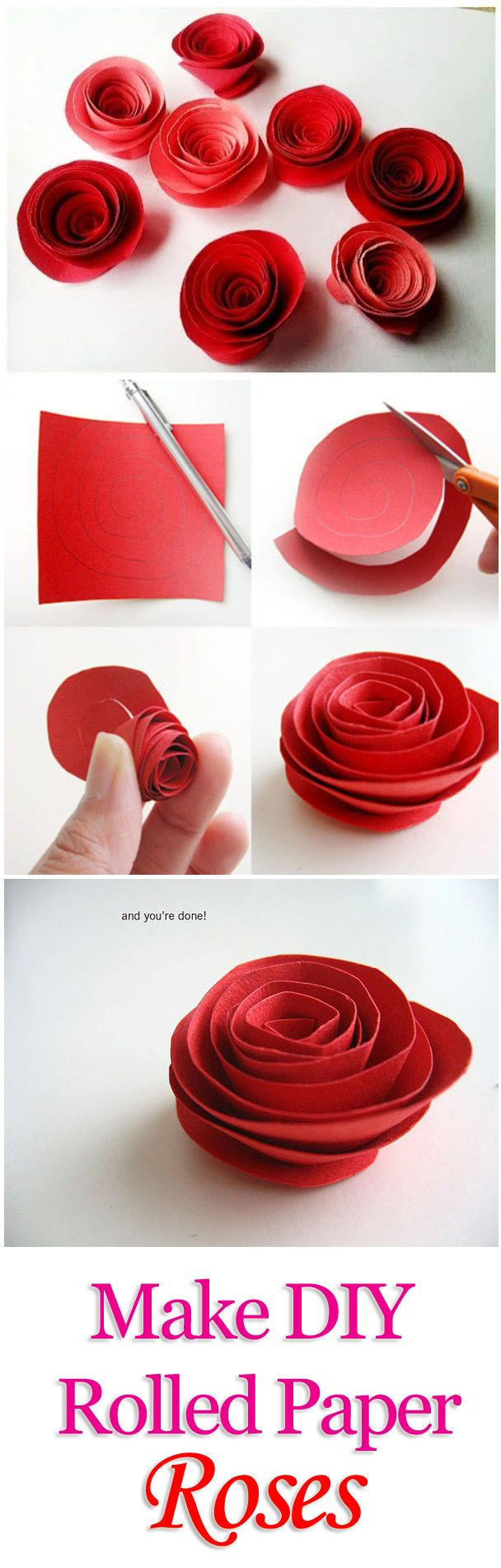 how to make paper roses easy origami