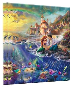 The Little Mermaid - Gallery Wrapped - Thomas Kinkade - World-Wide-Art.com - $79.00 #Disney #Kinkade