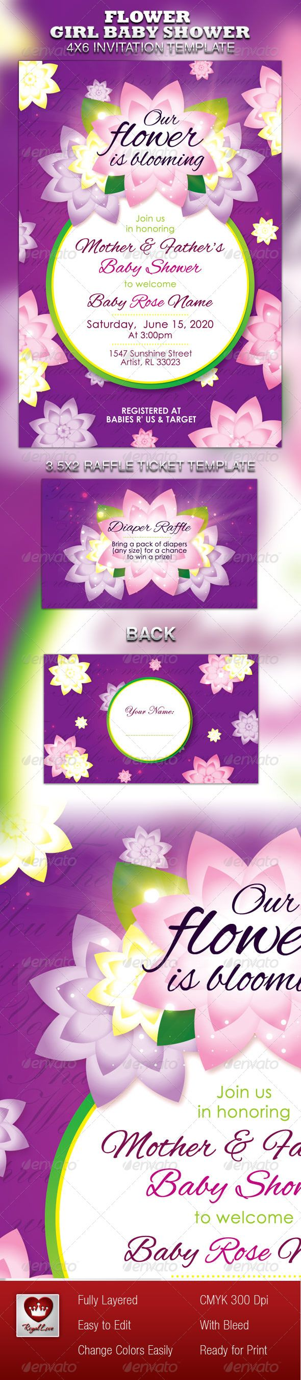 17 melhores ideias sobre raffle ticket printing no flower girl baby shower invitation raffle ticket