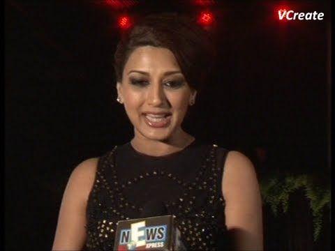 Sonali Bendre at Amitabh Bachchan's birthday party.