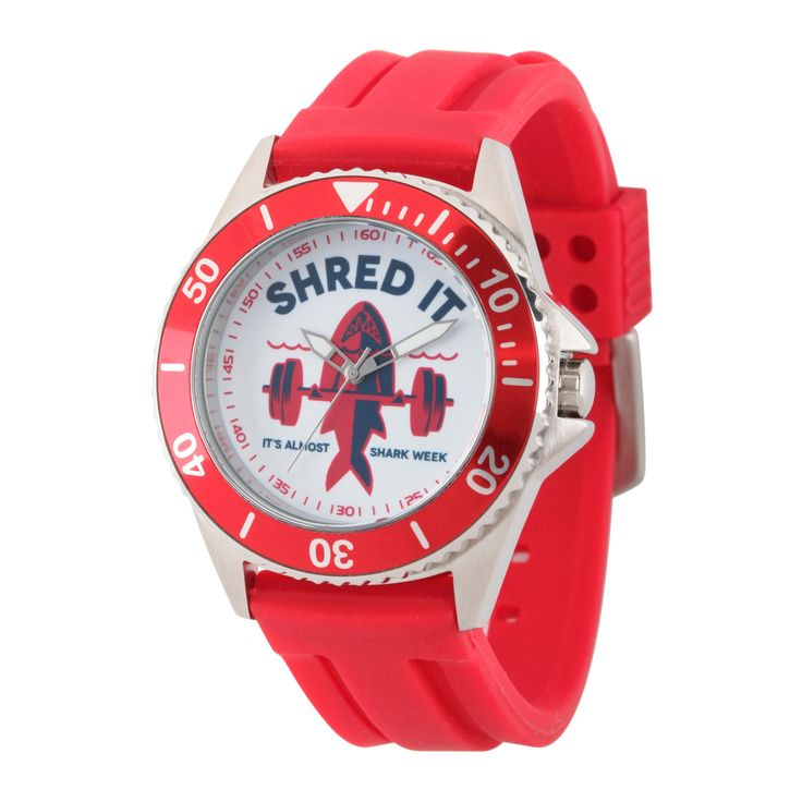 Men's Discovery Channel Shark Week Honor Stainless Steel Watch - Red