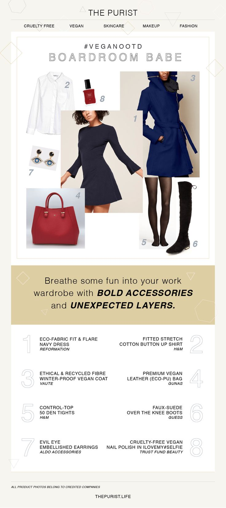 Stylish Office Outfits   Vegan Fashion   Vegan Shoes & Bag   Three Vegan Outfits for Winter that are Stylish AF - The Purist Life