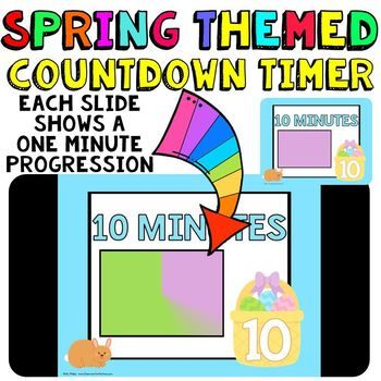 Classroom Timer: This is a fun countdown timer that has a bunny and egg theme for your spring activities. Use it any time during the spring season. Countdown timers can be helpful for activities such as: timed math tests, game time, center rotations, working with a partner, turn and talk times, sustained silent reading, brainstorming time, and more. Find my other