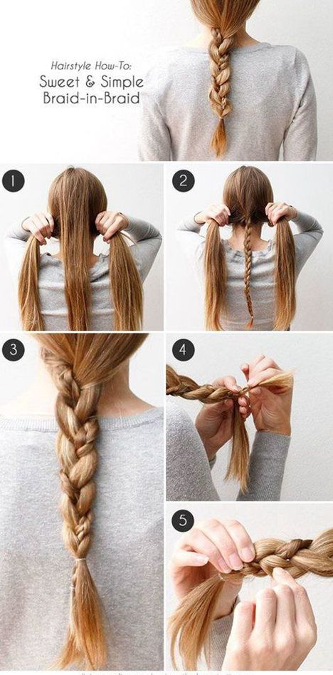 My mom just did this on me with a crown braid in front. So pretty ❤