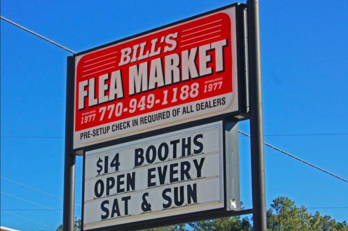 3. Bill's Flea Market - 4260 E Veterans Memorial Hwy, Lithia Springs, GA 30122