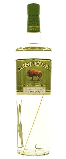 Zubrowka Bison Grass Vodka from Poland 750ml - my favorite neat