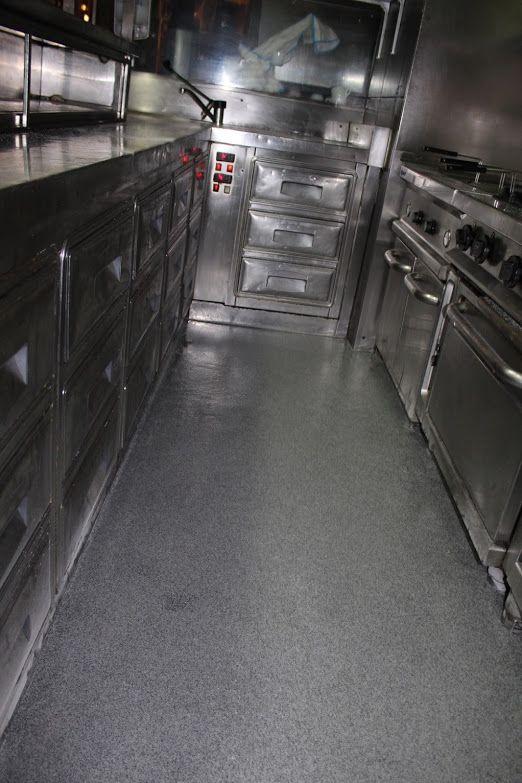 Aplicación capa de fondo, sellado y abrillantado del pavimento poliurea 3
