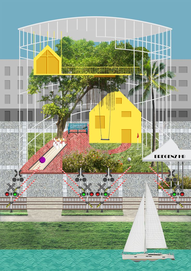 Concept image for an Allstar Hotel. University Liechtenstein. Studio Dworzak and Mackowitz.