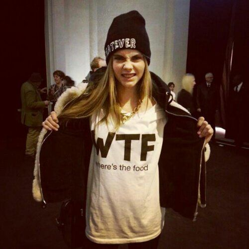 Where's The Food  cara delevingne