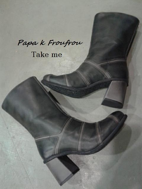 unique... like you  leather booties Take me in boutique Papa k Froufrou