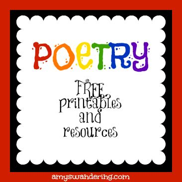 free poetry printables and poetry for kids resources